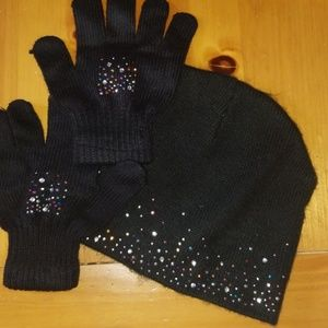 Other - Youth girls hat and glove set